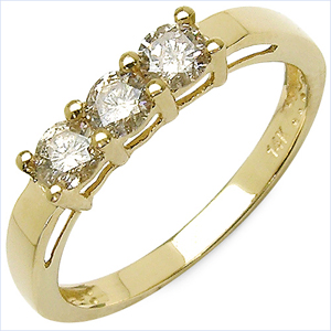 0.53CTW Genuine Diamond 14K Yellow Gold Ring