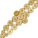41.60 Grams Genuine White Topaz Gold Plated Brass Bracelet