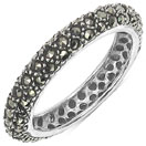 1.80 Grams Marcasite .925 Sterling Silver Ring