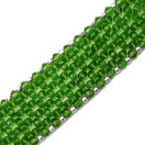 26.00 Grams Green Glass .925 Sterling Silver Bracelet