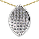 0.80 Grams Micro Pave Setting American Diamond Gold Plated Copper Pendant