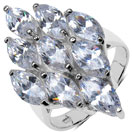 6.40 Grams White Cubic Zirconia .925 Sterling Silver Ring