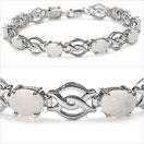 7.02CTW Genuine Opal .925 Sterling Silver Bracelet