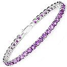 9.84CTW Amethyst .925 Sterling Silver Bracelet