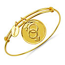 Gold Plated Brass 'Gender Symbol' Embossed on Coin Bangle