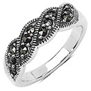 5.50 Grams Marcasite .925 Sterling Silver Ring