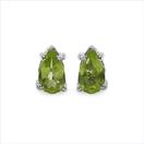 0.44CTW Genuine Peridot .925 Sterling Silver Earrings