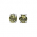 0.27CTW Genuine Lemon Topaz .925 Sterling Silver Earrings