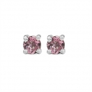 0.33CTW Genuine Pink Tourmaline .925 Sterling Silver Earrings