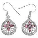 2.50CTW Genuine Pink Tourmaline .925 Sterling Silver Earrings