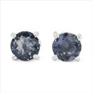 1.10CTW Genuine Iolite .925 Sterling Silver Earrings