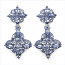 2.48CTW Genuine Tanzanite .925 Sterling Silver Earrings