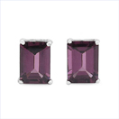 2.20CTW Genuine Rhodolite .925 Sterling Silver Earrings