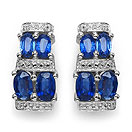 4.04CTW Genuine Kyanite .925 Sterling Silver Earrings