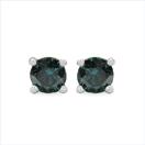 0.46CTW Genuine Blue Diamond .925 Sterling Silver Earrings