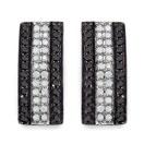 0.54CTW Genuine Black Diamond & White Diamond .925 Sterling Silver Earrings