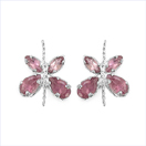 1.20CTW Genuine Pink Tourmaline .925 Sterling Silver Earrings