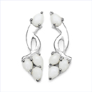 1.44CTW Genuine Opal .925 Sterling Silver Earrings