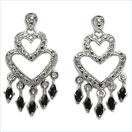 1.30CTW Genuine Sapphire & Diamond .925 Sterling Silver Earrings