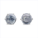 0.80CTW Genuine Iolite .925 Sterling Silver Earrings