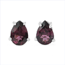 1.60CTW Genuine Rhodolite .925 Sterling Silver Earrings