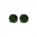 0.58CTW Genuine Chrome Diopside 14K White Gold Stud Earrings