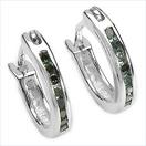 0.14CTW Genuine Green Diamond .925 Sterling Silver Earrings