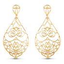 Gold Plated Brass Filigree Earrings