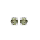 0.50CTW Genuine Green Tormaline .925 Sterling Silver Earrings
