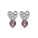 0.50CTW Genuine Pink Tourmaline .925 Sterling Silver Earrings