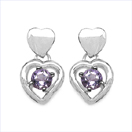 1.80CTW Genuine Amethyst .925 Sterling Silver Earrings