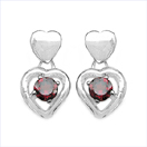 2.20CTW Genuine Garnet .925 Sterling Silver Earrings