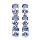 2.52CTW Genuine Tanzanite .925 Sterling Silver Earrings
