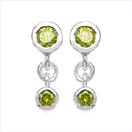 0.44CTW Genuine Yellow Diamond .925 Sterling Silver Earrings