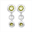 0.52CTW Genuine Yellow Diamond .925 Sterling Silver Earrings