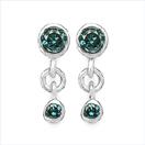 0.32CTW Genuine Blue Diamond .925 Sterling Silver Earrings