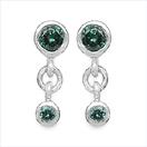 0.34CTW Genuine Blue Diamond .925 Sterling Silver Earrings