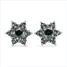 0.42CTW Genuine Blue Diamond .925 Sterling Silver Earrings