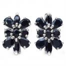 9.40 Grams Genuine Sapphire .925 Sterling Silver Earrings