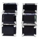 6.00 Grams Genuine Sapphire .925 Sterling Silver Earrings