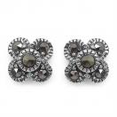 1.40 Grams Marcasite .925 Sterling Silver Earrings