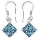 1.80 Grams Sky Blue Crystal .925 Sterling Silver Earrings