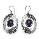 5.00CTW Genuine Amethyst .925 Sterling Silver Earrings