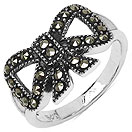 2.90 Grams Marcasite .925 Sterling Silver Ring