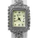 31.70 Grams Marcasite Rhodium Plated .925 Sterling Silver Watch