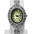 26.10 Grams Marcasite Rhodium Plated .925 Sterling Silver Watch