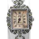 27.70 Grams Marcasite Rhodium Plated .925 Sterling Silver Watch