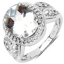 2.50CTW Crystal .925 Sterling Silver Solitaire Ring
