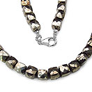 424.75CTW Payorite 49CM Long .925 Sterling Silver Beads Necklace