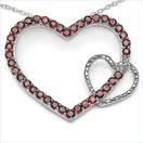 1.90CTW .925 Sterling Silver Garnet Pendant